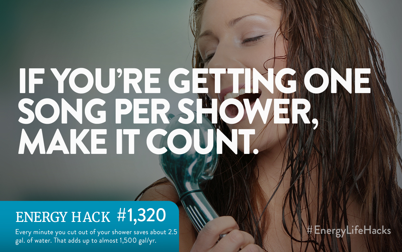 take quicker showers to save water