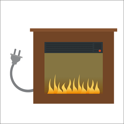 electric fireplace free vector art