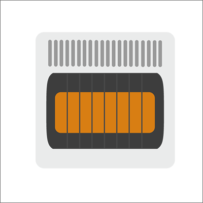Unvented Heater Stock Vector