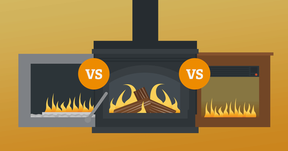 Gas vs. Wood-Burning vs. Electric Fireplaces