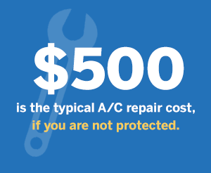 500 dollars is the typical A/C repair cost.
