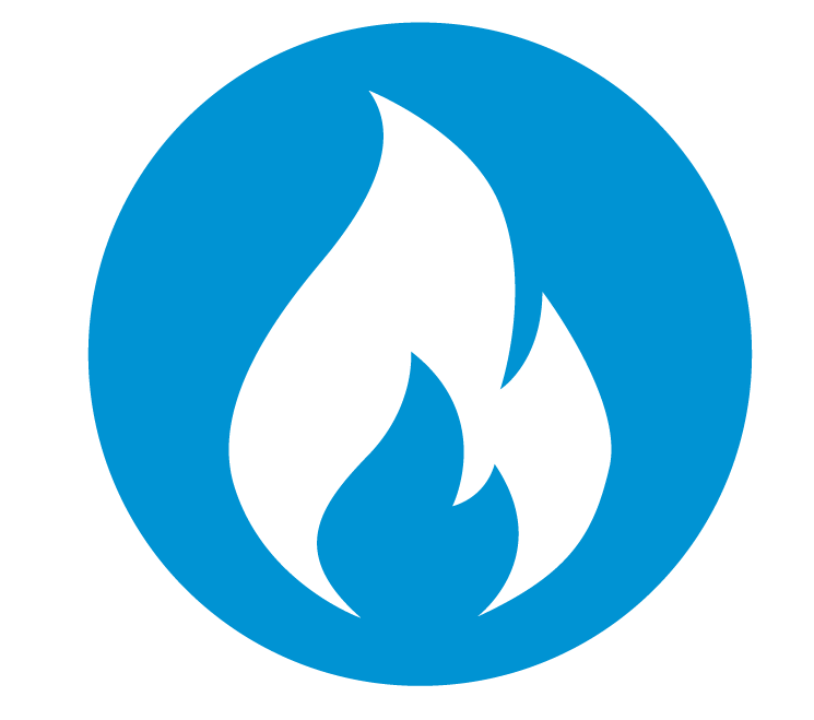 natural gas flame illustration