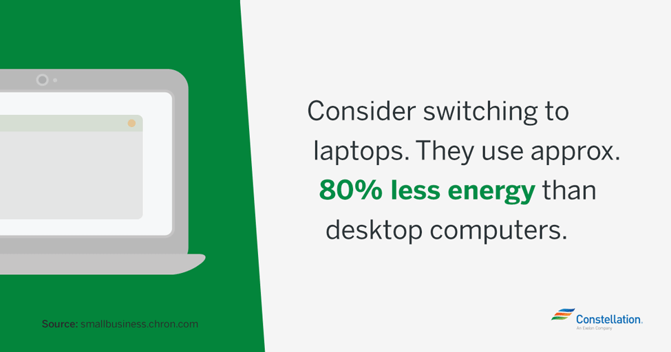 switching to laptops saves on energy costs and business costs