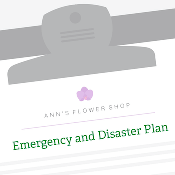 clipboard for small business disaster recovery plan