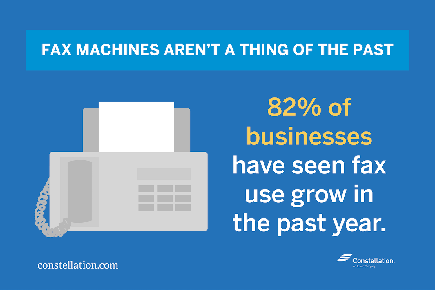 Small businesses have seen fax machine use grow