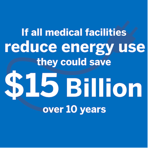 If all medical facilities reduce energy use they could save 15 billion dollars over 10 years